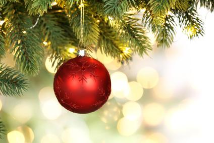 Nachaufnahme eines Weihnachtsbaums