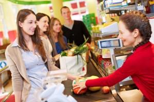 Sparen im Supermarkt: Bonuspunkte sammeln